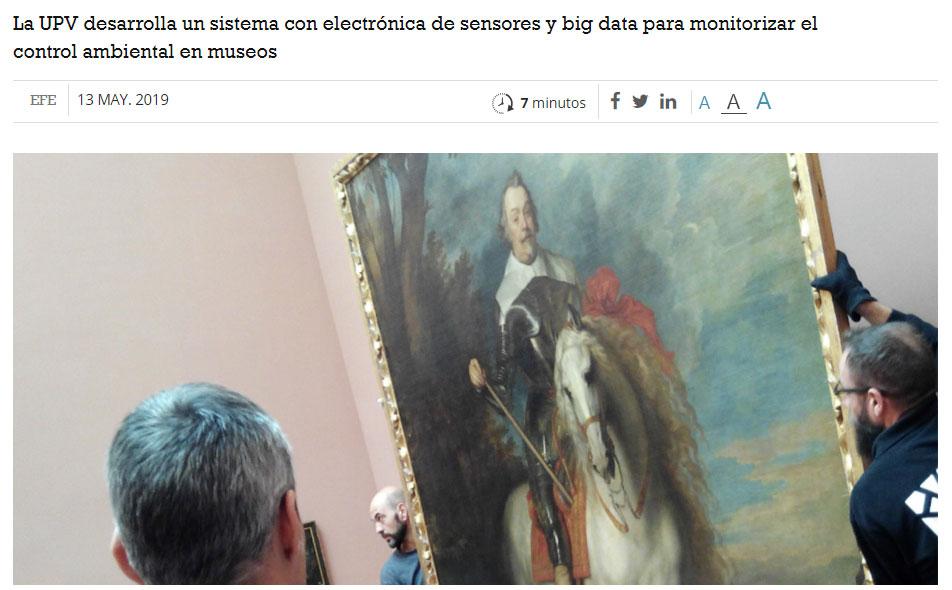Investigadores españoles crean un dispositivo de bajo coste contra el deterioro de obras de arte