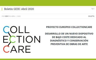 Proyecto europeo CollectionCare. Desarrollo de un nuevo dispositivo de bajo coste dedicado al diagnóstico y conservación preventiva de obras de arte